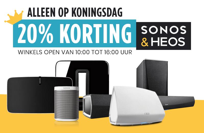 20% korting op Sonos en HEOS producten bij PlatteTV