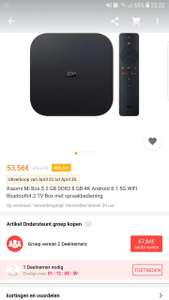 Xiaomi Mi Box S -  20% korting tot 30 April