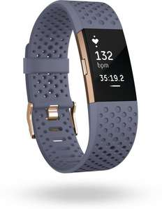 [Dagdeal] Fitbit Charge 2 - Activity tracker - Blauw grijs - Small @Bol.com
