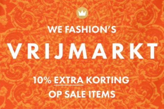 Vandaag: 10% extra korting op alle sale (tot -70%) @ We Fashion