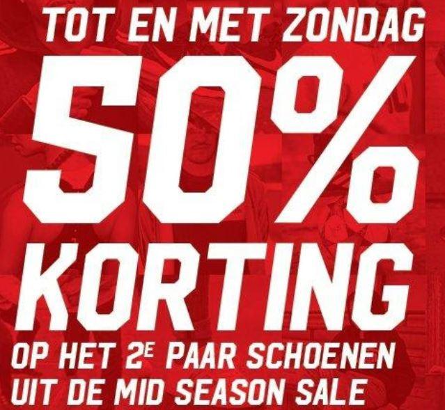Sale schoenen: 2e 50% extra korting + 10% extra met code @ Aktiesport