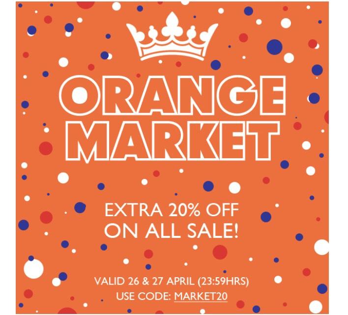 20% extra korting op sale bij orangebag