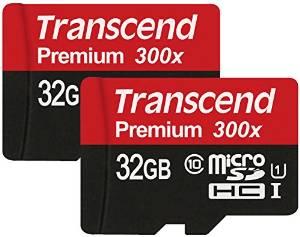 2x transcend 32gb sd kaart met sd-adapter uhc 1 voor €22 @ Amazon.de