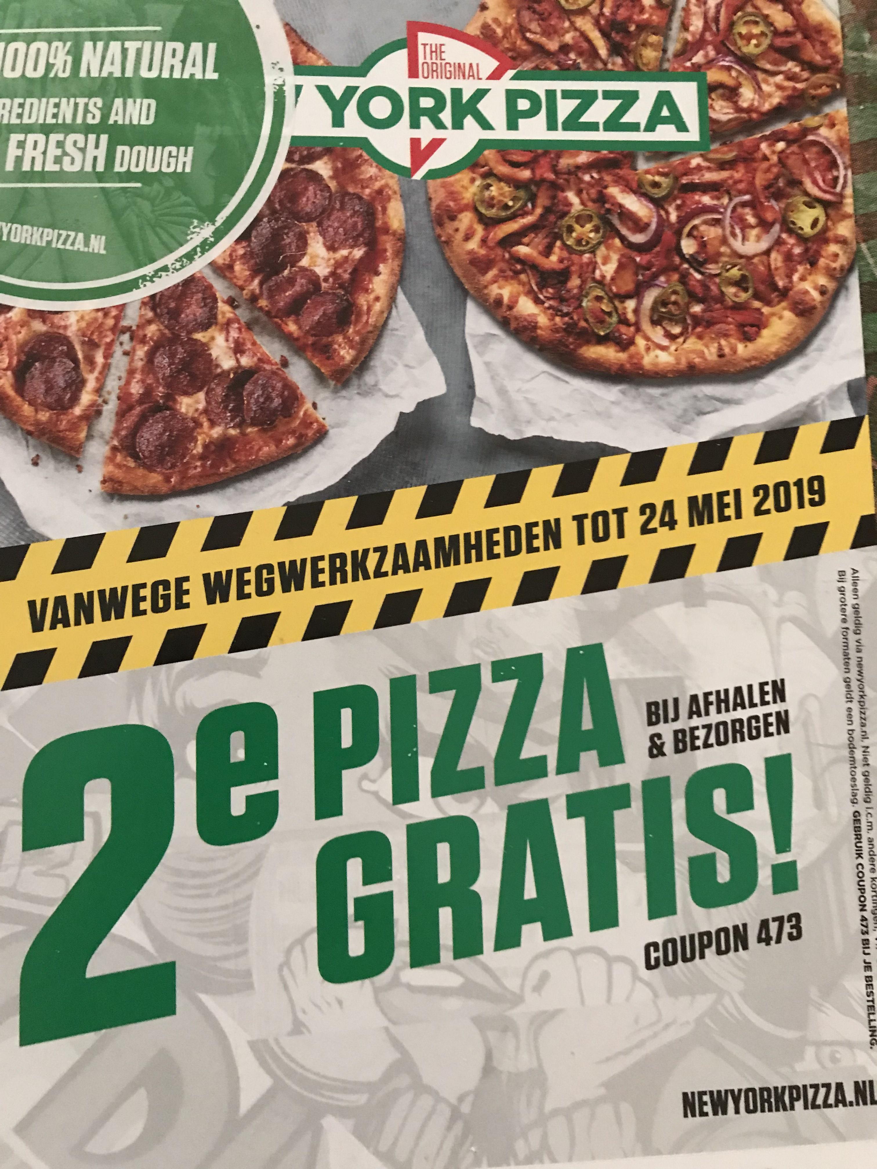 Twee pizza's voor de prijs van een.