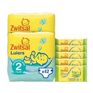 50% korting op Zwitsal luiers mt2 + billendoekjes lotion