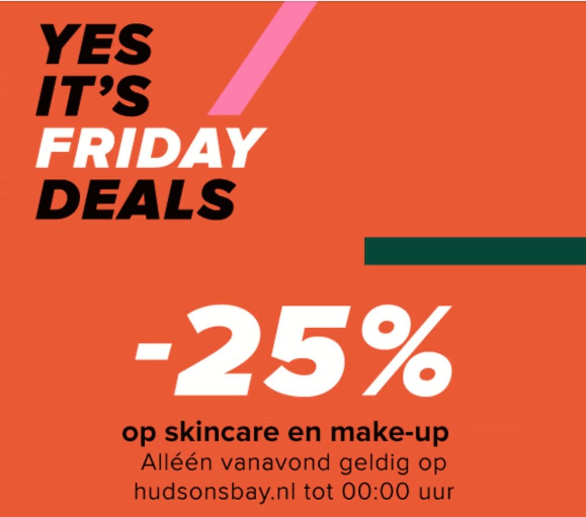 25% korting op make-up & skincare bij Hudson's Bay (online)