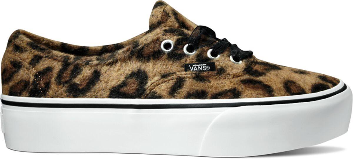 Vans fuzzy leopard platform