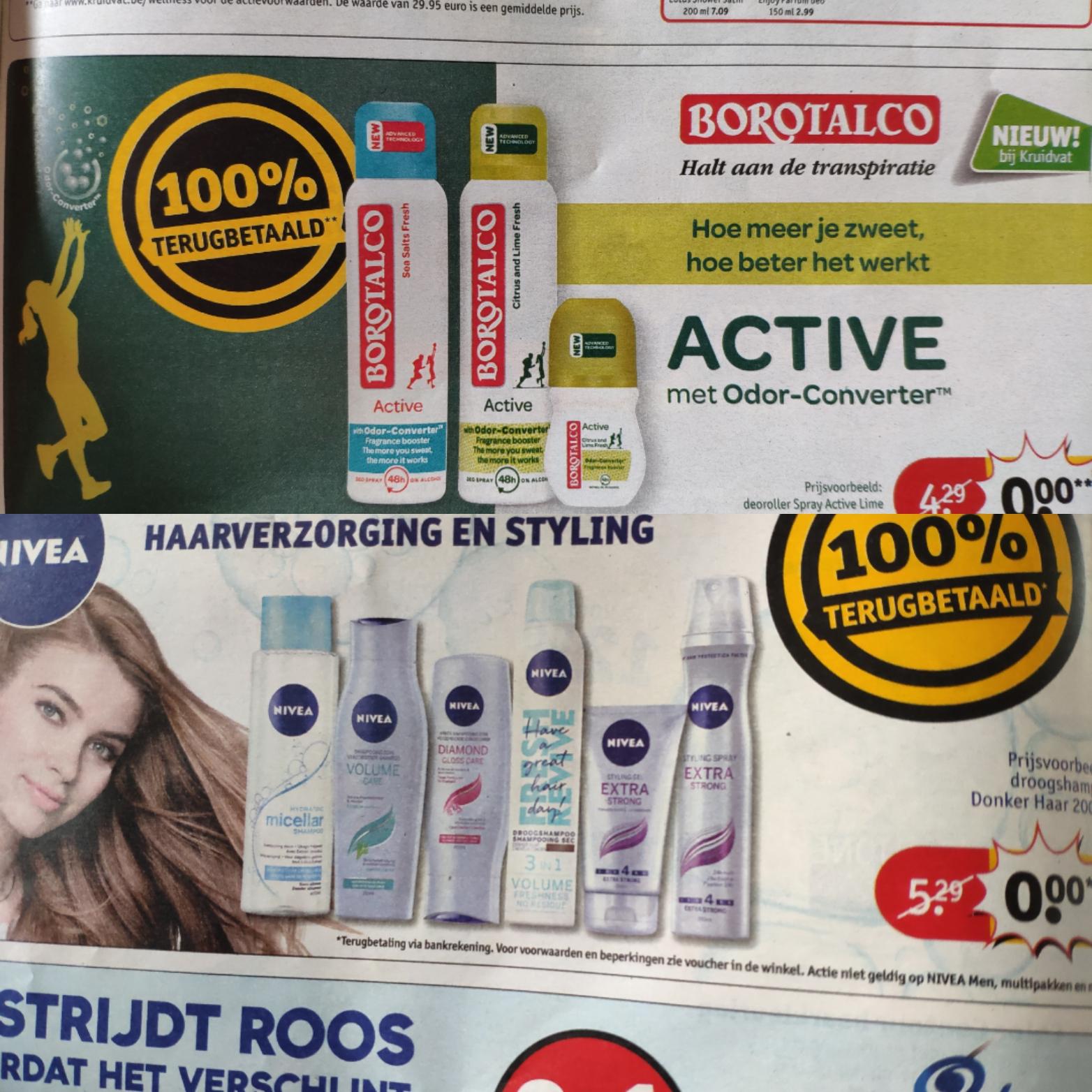 100% terugbetaalde producten bij Kruidvat België (= gratis)