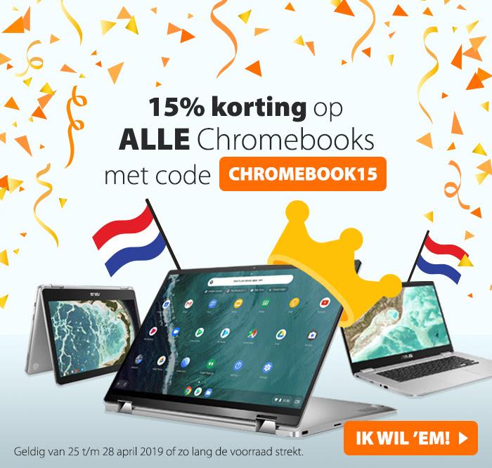 15% korting op alle Chromebooks @ Asus