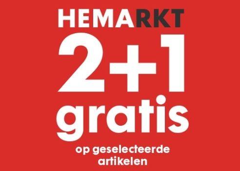 HEMARKT 2+1 gratis op geselecteerde artikelen