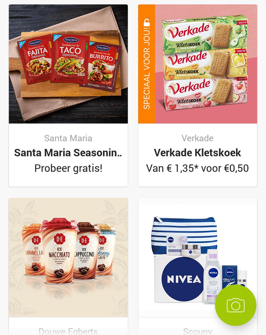Gratis Santa Maria kruiden + Douwe Egberts ijskoffie en Verkade Kletskoek voor €0,50