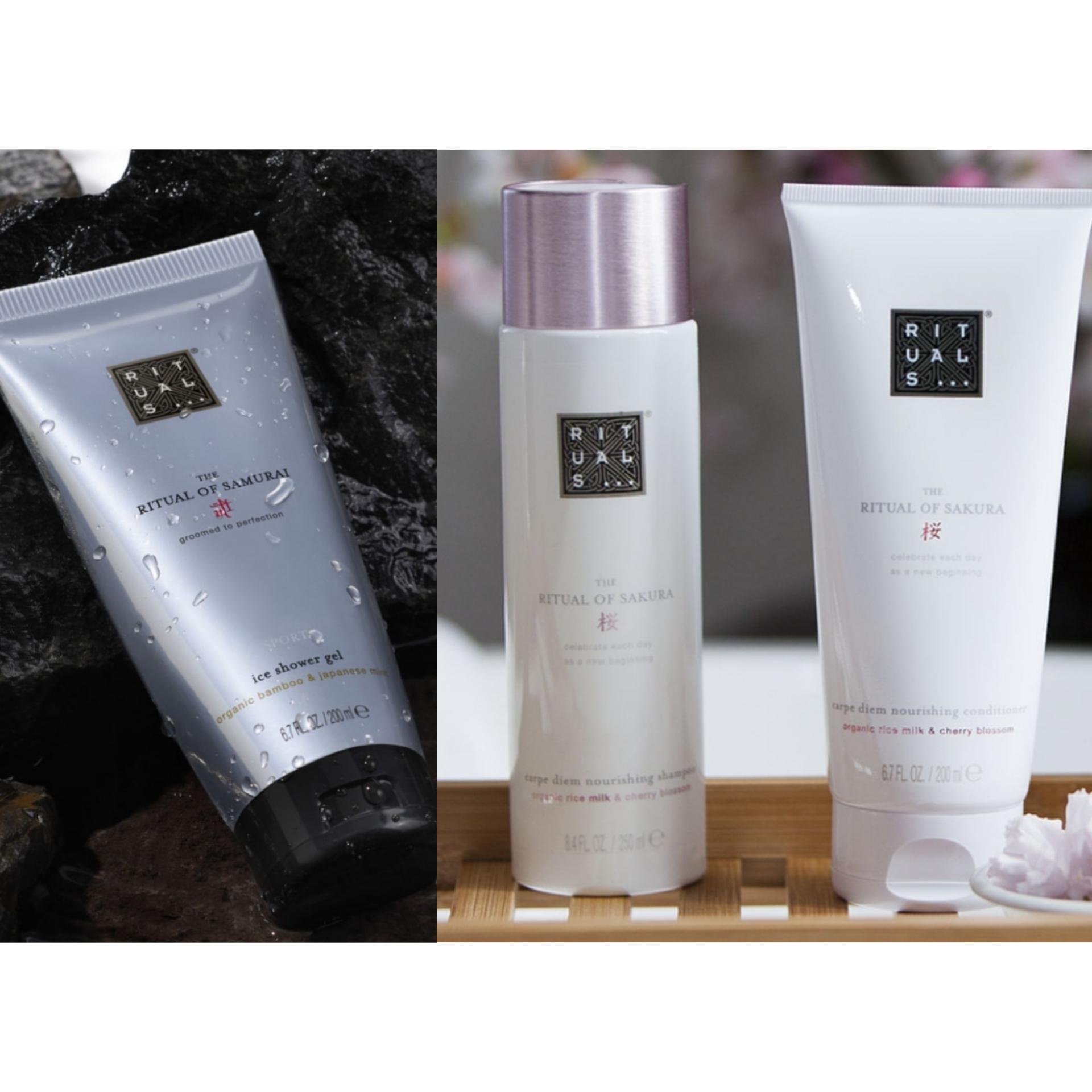 Rituals : Shampoo&Conditioner voor €10,- (bijna 50% korting), Samurai Showergel voor €5,- en nieuwe cadeaus bij je bestelling