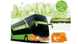 [Grensdeal DE] €9,99 voor een Flixbus- of Flixtrain-ticket voor in heel Europa @ Aldi