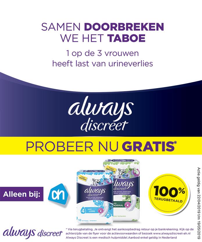 Gratis always discreet bij Albert Heijn