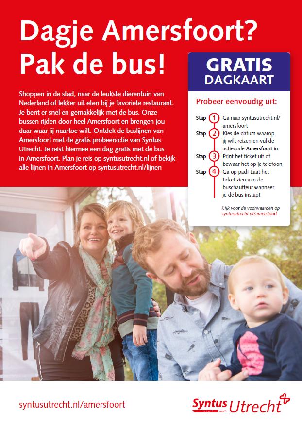 Dag gratis met de bus in Amersfoort (t/m 26 mei)