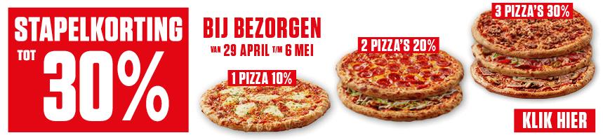 Voetbalavond = pizza avond tot 30% stapelkorting @ New York Pizza