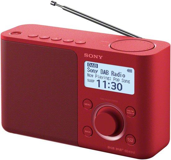 Sony XDR-S61D DAB+ Radio rood voor €39,95 @ Megekko