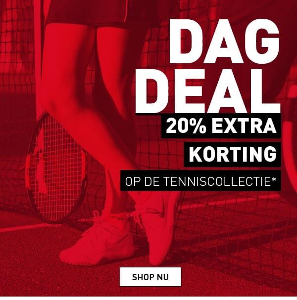 Dagdeal: 20% extra korting op de tenniscollectie @ Perry Sport