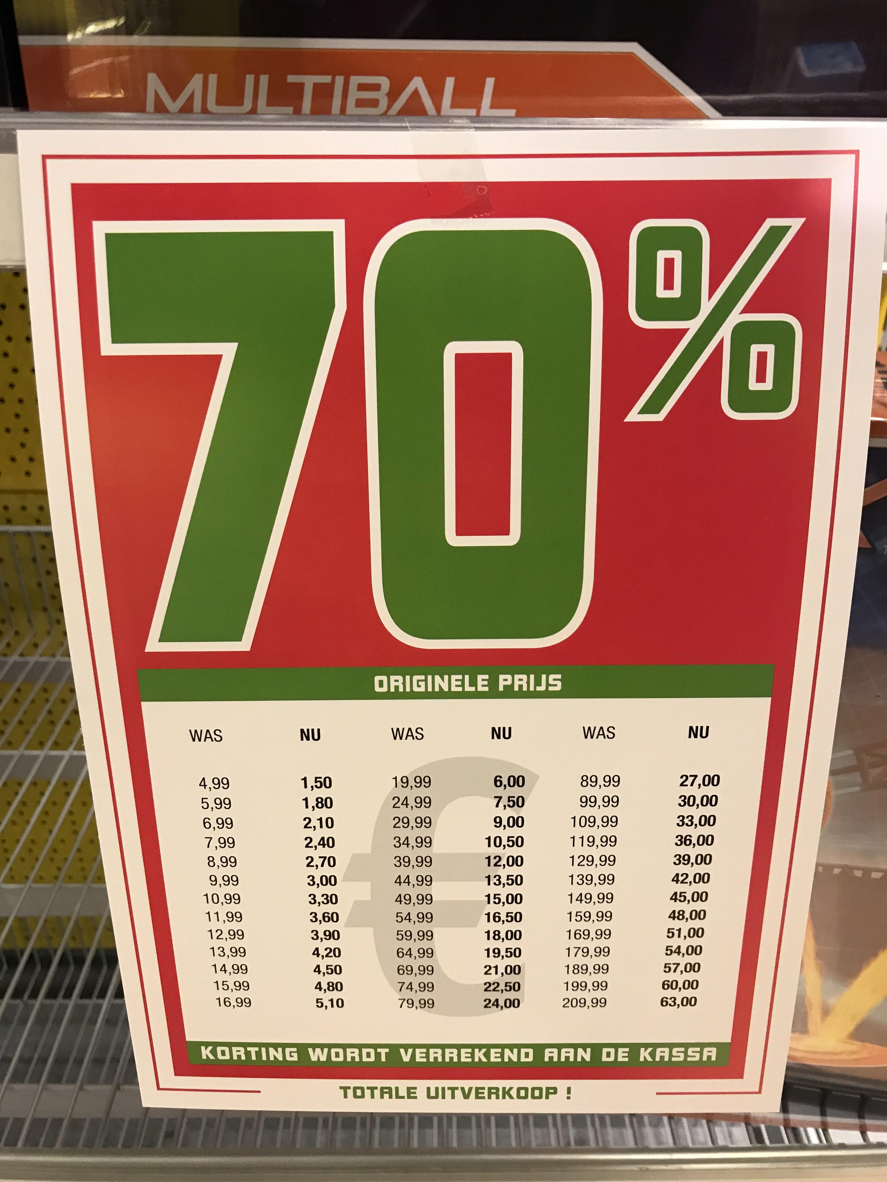 [Almere] Intertoys 70% op alles!