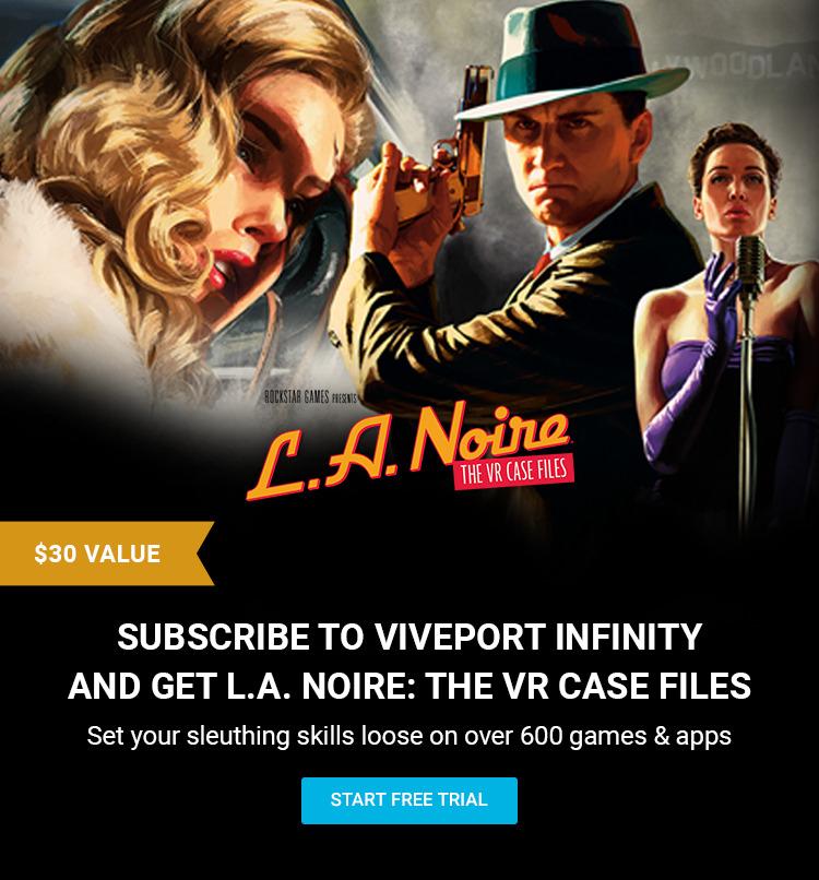 L.A. Noire The VR Case Files gratis bij een proefperiode @ Viveport Store