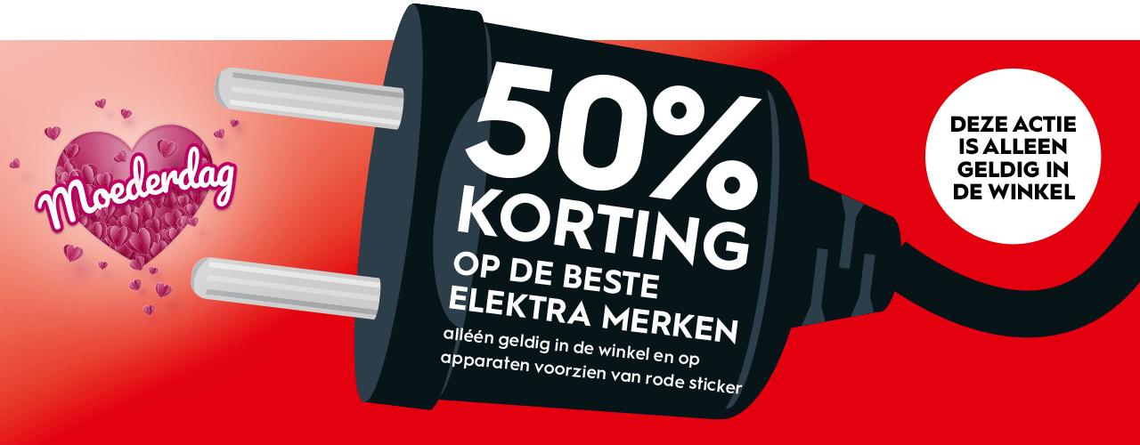 Moederdag - 50% korting op geselecteerde elektra (persoonlijke verzorging) @ Blokker (Winkels)