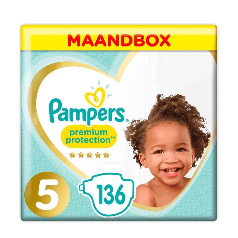 5 keer pampers premium protection maandbox maat 5