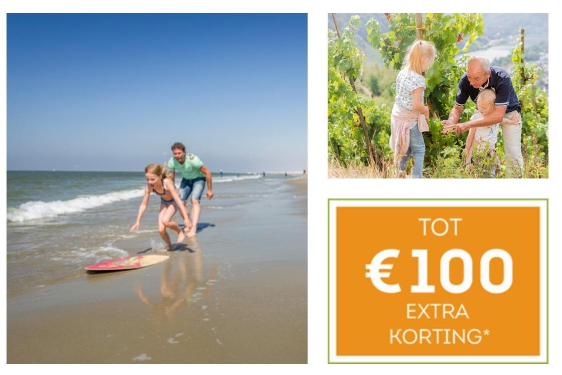 Tot €100 korting in de periode van 5 juli 2019 tot 6 januari 2020 @ Landal GreenParks