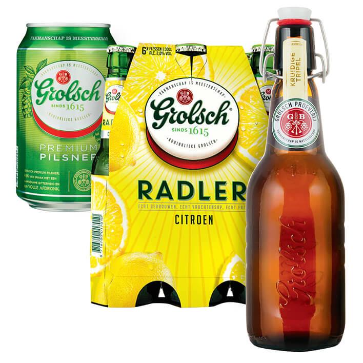 Grolsch blikken, Radler en speciaalbier 2 voor de prijs van 1 (1+1) vanaf 6-5-2019 @Albert Heijn @ah.nl