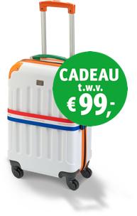 Gratis reiskoffer t.w.v. €99 bij meespelen Postcodeloterij