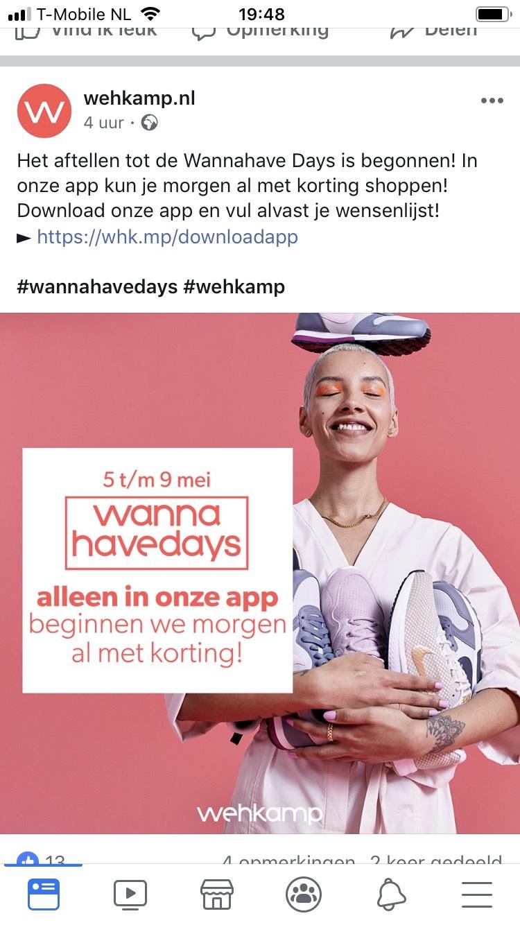 Wehkamp wannahave days (4) 5 t/m 9 mei