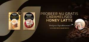Gratis proefsamples NESCAFÉ GOLD Cappuccino + NESCAFÉ GOLD Caramelised Honey Latte