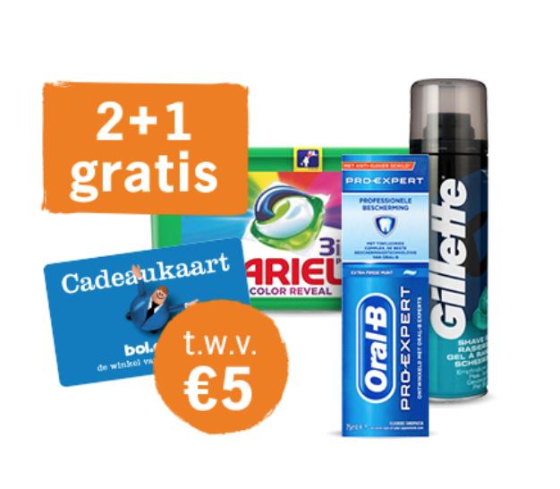 Bij Albert Heijn: 5 euro Bol.com cadeaukaart: bij aankoop van 3 producten vanaf 2,74 euro