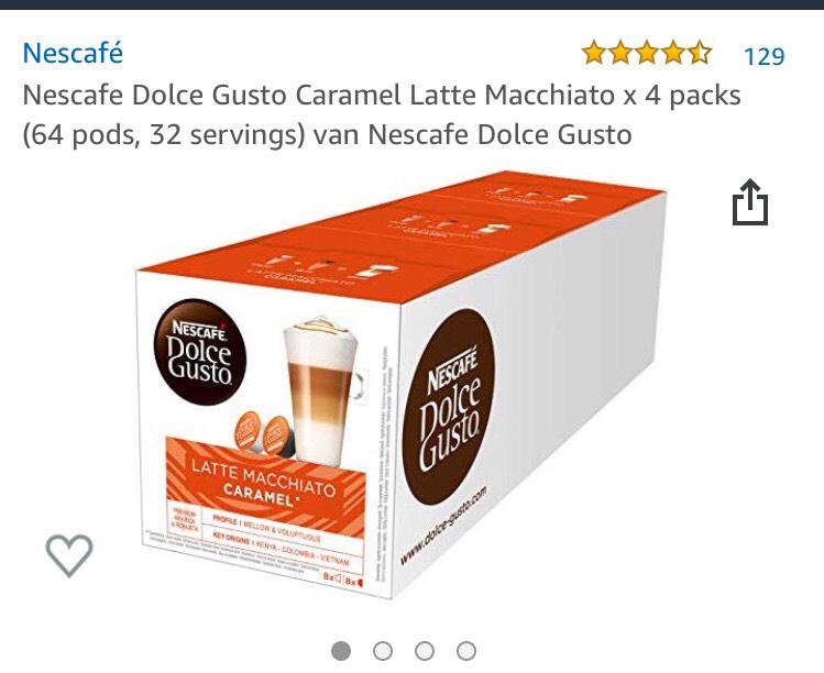 Dolce gusto cups latte macchiato caramel 4 pakken