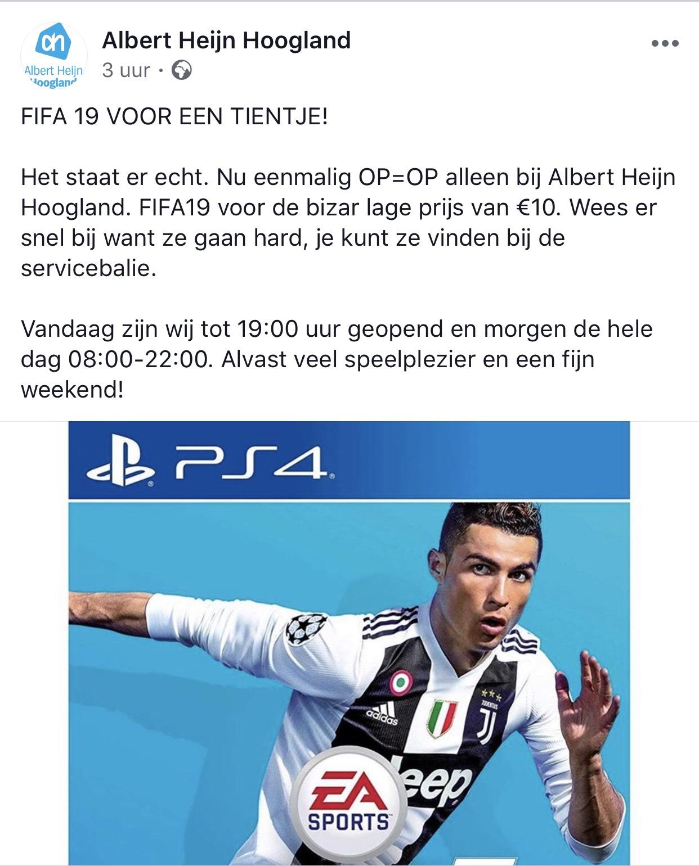 Lokaal? Fifa 19 nu voor €10.00!!!!