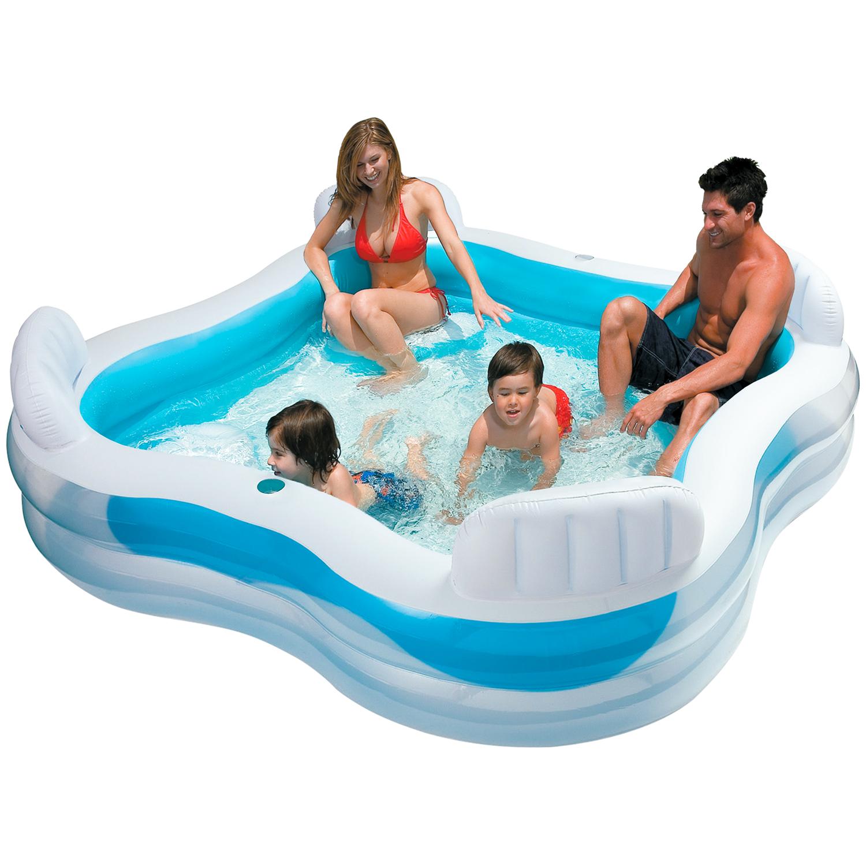 Intex Familie Lounge zwembad 229 x 229 x 66 cm