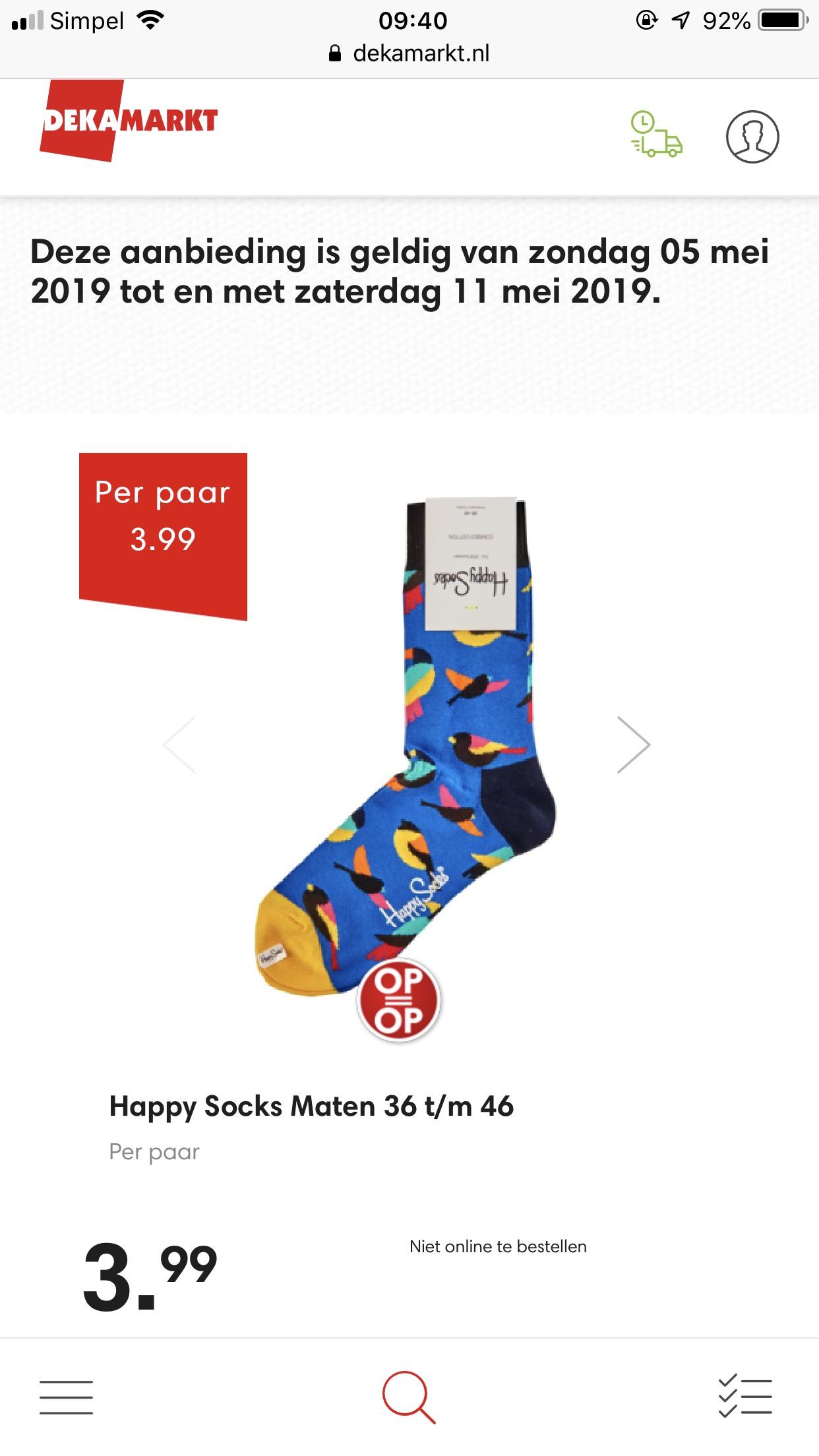 Happy socks bij de Deka /Dirk