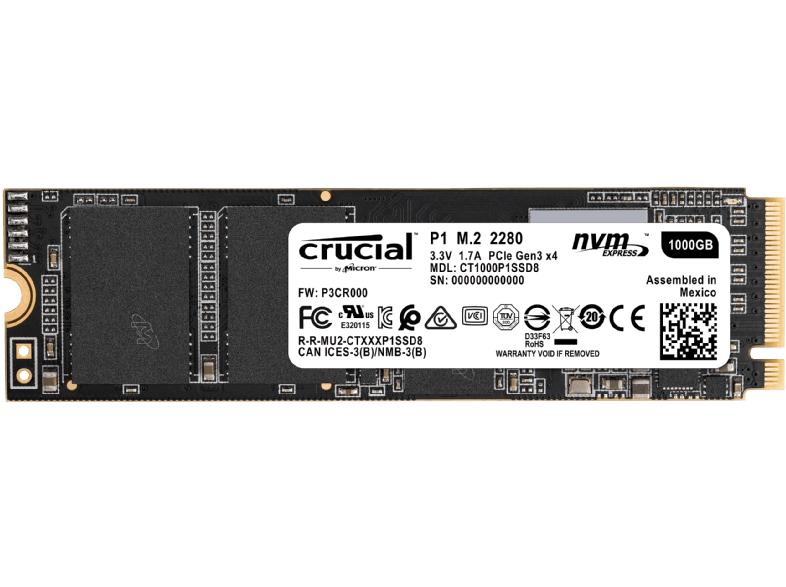 [Grensdeal DE / Mediamarkt.de] Crucial P1 m.2 NVMe 1TB SSD
