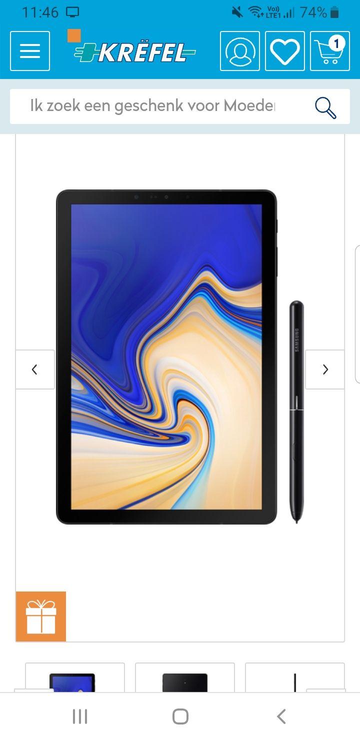 Grensdeal BE Samsung galaxy tab s4 zwart 64gb met S pen + smart type cover T.w.v 150€