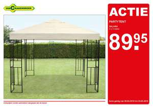 Partytent 89,95 euro elders 129,95 euro