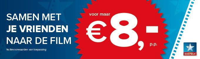 Voor €8.00 naar kinepolis bij alle locaties in Nederland