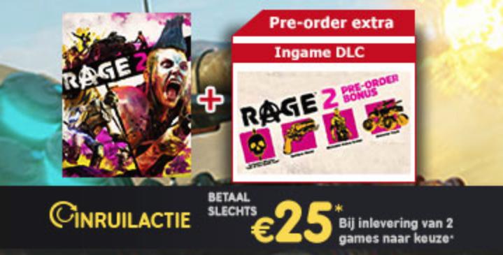 Inruilactie: RAGE 2 vanaf €25 bij inleveren van twee games @ Gamemania
