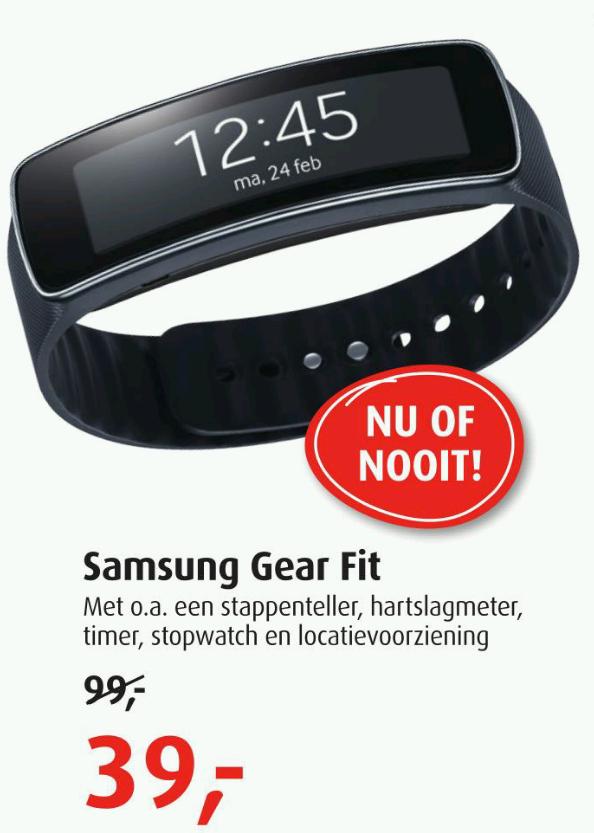 Samsung  Gear Fit voor €39,- @ Belcompany winkels (vanaf maandag)