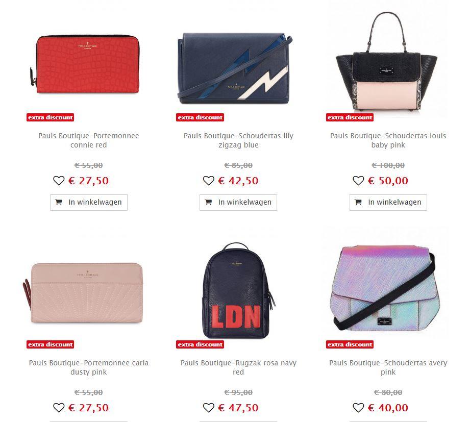 Pauls Boutique tassen & meer -50% + 20% extra @ Maison Lab