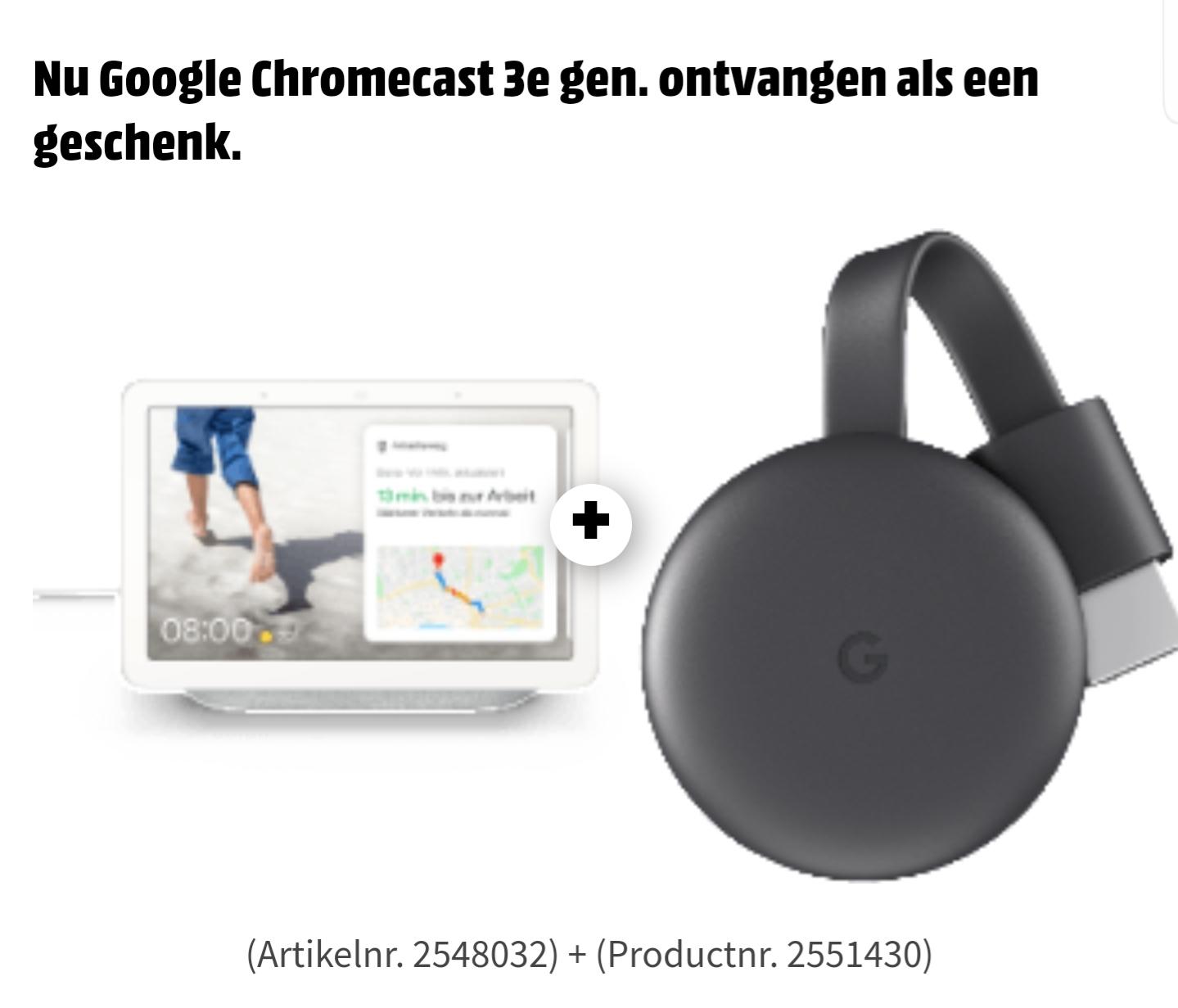 [Grensdeal DE] Google Nest Hub met gratis Chromecast 3 @MediaMarkt Duitsland