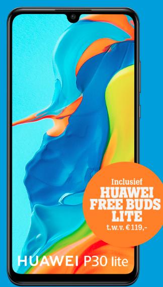 Huawei P30 Lite 128GB voor € 286,70 bij Tele2 (ipv 369,-)