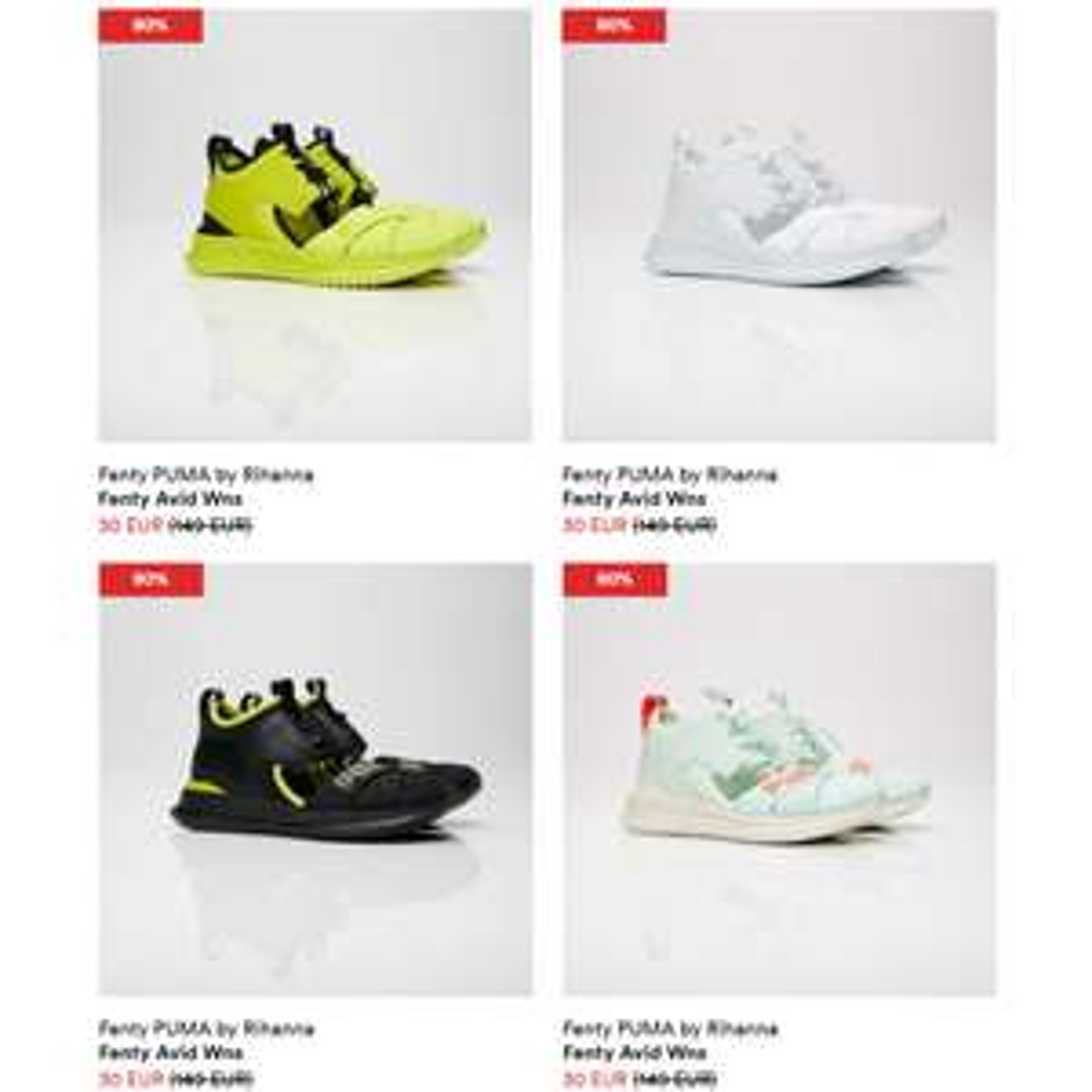 Fenty Puma by Rihanna sneakers -80% @ Sneakersnstuff