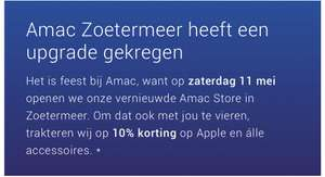10% Korting @ Amac Zoetermeer