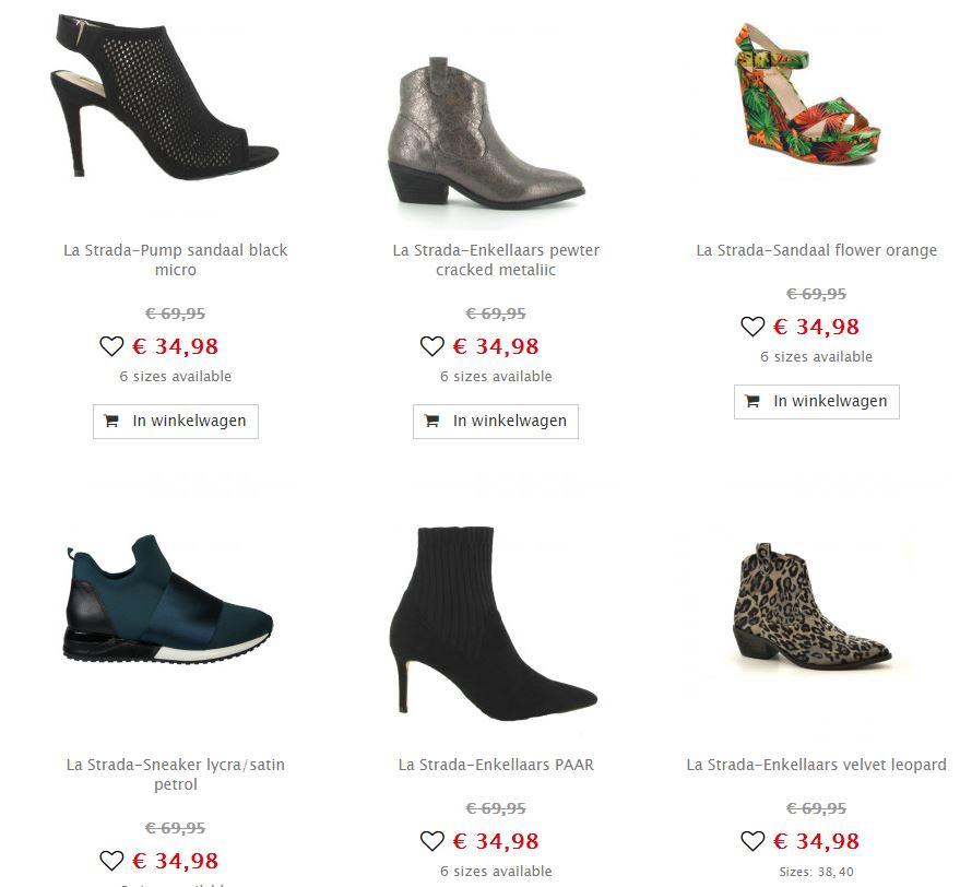 La Strada damesschoenen 50%-70% korting @ Maison Lab