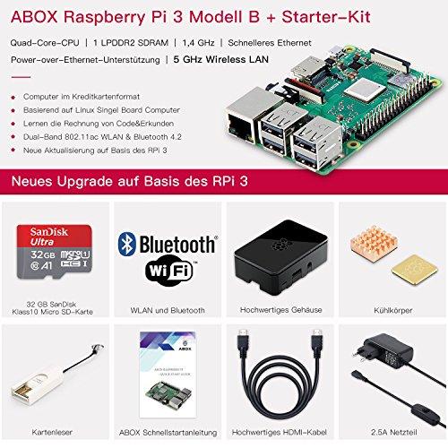 Raspberry Pi 3 B+ met 32 GB Evo MicroSD (incl. zwarte behuizing)