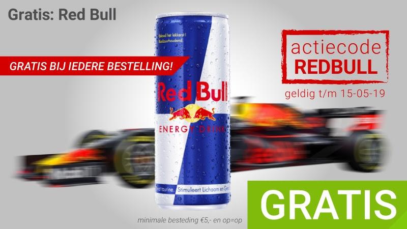 Gratis Red Bull bij iedere bestelling vanaf €5 @ Megekko
